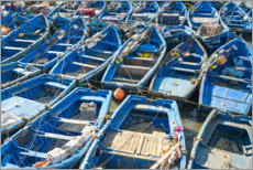 Plakat Boats in the fishing port