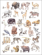 Obraz na płótnie  Animal alphabet (French) - Wandering Laur