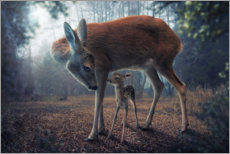 Plakat Mother and fawn