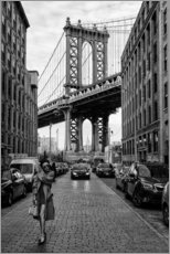 Obraz na drewnie  Brooklyn with Manhattan Bridge - Robert Bolton