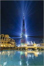 Obraz na płótnie  Burj Khalifa illuminated at night, Dubai - Fraser Hall