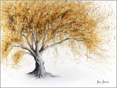 Plakat Tree with golden luster