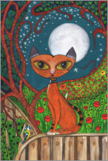 Plakat The cat and the moon