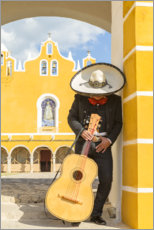 Plakat  Mexican Mariachi with his guitar - Matteo Colombo