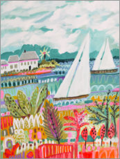 Plakat Two Sailboats and Cottage II