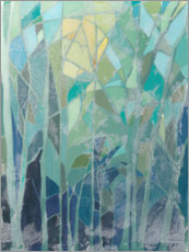 Obraz na aluminium  Stained Glass Forest II - Grace Popp