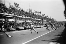 Obraz na drewnie  Start of the 24 Hours of Le Mans race, 1963