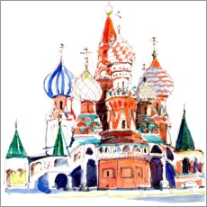 Plakat St. Basil's Cathedral, Moscow