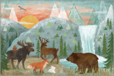 Plakat Animals of the forest