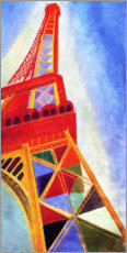 Obraz na płótnie  The Eiffel Tower - Robert Delaunay