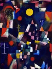 Naklejka na ścianę  The full moon - Paul Klee
