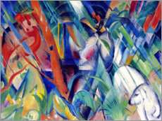 Naklejka na ścianę  In the rain - Franz Marc