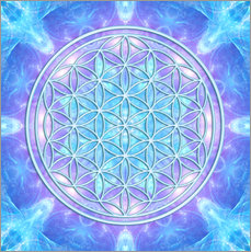 Gallery print  Flower of Life - Dolphin Awareness - Dolphins DreamDesign