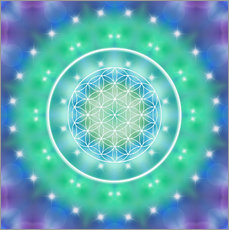 Gallery print  Flower of Life - Relaxation - Dolphins DreamDesign