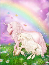 Naklejka na ścianę  Unicorn rainbow magic - Dolphins DreamDesign