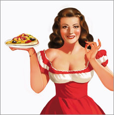 Gallery print  the girl with a pizza - Tanja Doronina