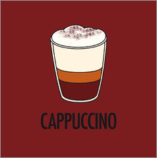 Naklejka na ścianę Cappuccino, for the italian lover in you!
