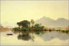 Naklejka na ścianę  On the Orinoco, Venezuela, 1857 - Louis Remy Mignot