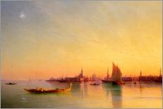 Obraz na płótnie  Sunset in the bay of Venice - Ivan Konstantinovich Aivazovsky