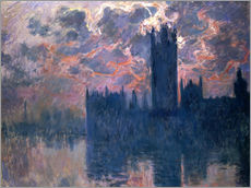 Gallery print  Houses of Parliament, Sunset - Claude Monet