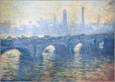 Naklejka na ścianę  River Thames in London, Waterloo Bridge - Claude Monet