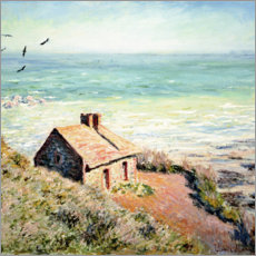 Obraz na drewnie  Fisherman's Hut, Varengeville - Claude Monet