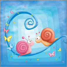 Gallery print  blue snails - Tooshtoosh
