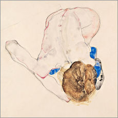 Gallery print  Nude with blue stockings - Egon Schiele