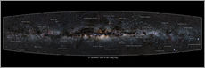 Gallery print  Milky Way, labeled (english) - Jan Hattenbach