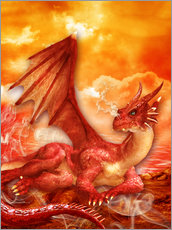 Gallery print  Red Power Dragon - Dolphins DreamDesign