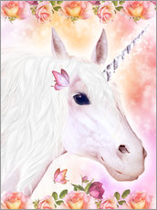 Gallery print  Loving Unicorn - Dolphins DreamDesign