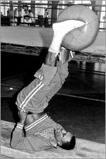 Gallery print  Joe Frazier during training with a medicine ball