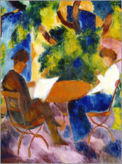 Gallery print  Couple at the garden table - August Macke