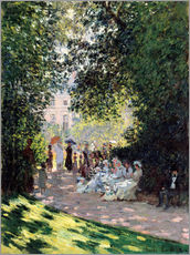 Naklejka na ścianę  In the Park Monceau - Claude Monet