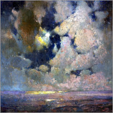 Gallery print  Moonlight on Ocean - S?ren Emil Carlsen