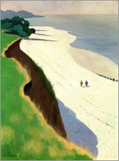 Obraz na drewnie  The Cliff and the White Shore - Felix Edouard Vallotton