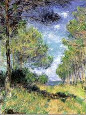 Obraz na płótnie  Conifers in Varengeville - Claude Monet