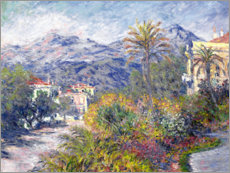 Obraz na płótnie  Villas at Bordighera - Claude Monet