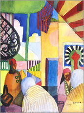 Naklejka na ścianę  In the Bazar - August Macke