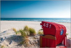 Gallery print  Red beach chair with a view - Reiner Würz