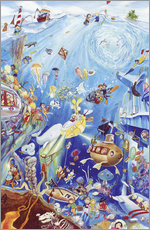 Naklejka na ścianę  Search and find: Underwater world - Bernd Lehmann