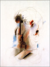 Gallery print  Large head to the left and small head - Oskar Schlemmer