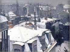 Gallery print  Rooftops in the snow - Gustave Caillebotte