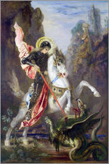 Gallery print  St. George and the Dragon - Gustave Moreau