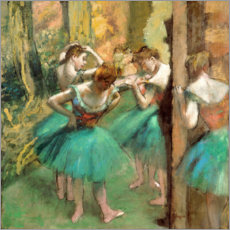 Obraz na płótnie  Dancers in Pink and Green - Edgar Degas