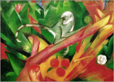 Naklejka na ścianę  The monkey - Franz Marc