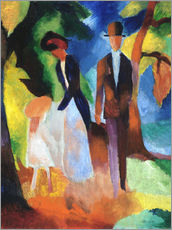 Gallery print  People at the blue lake - August Macke
