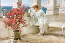 Naklejka na ścianę  Her eyes are with her thoughts and they are far away - Lawrence Alma-Tadema