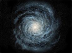 Gallery print  face-on view of the Milky Way - Ron Miller