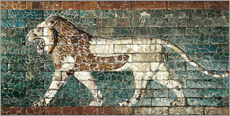 Gallery print  Lion mosaic at the temple of Babylon
